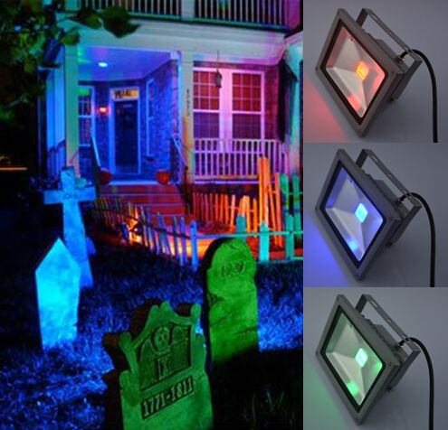 cover outdoor lights with colored filters how to create spooky halloween lighting for your home in minuteslights by james barker - Halloween Outdoor Lights