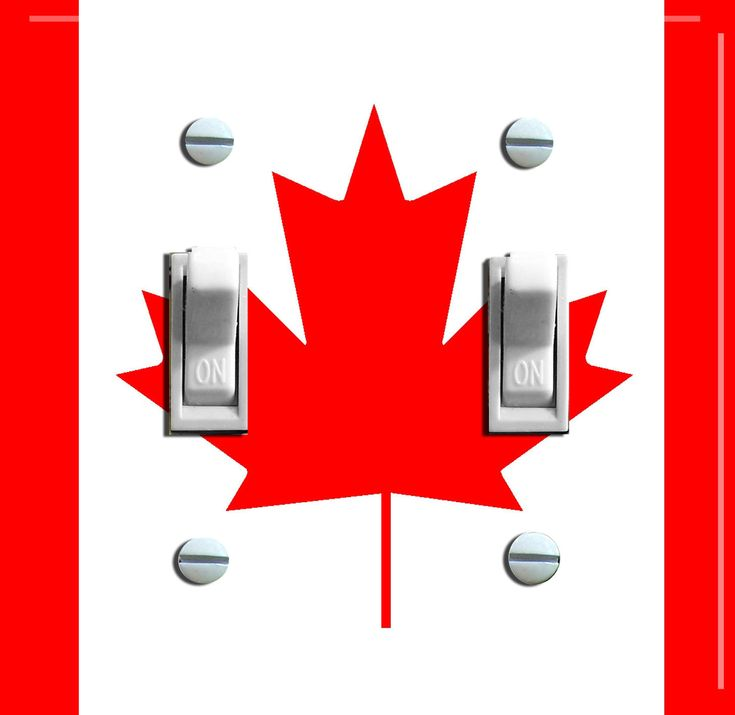 CANADA Flag Switch Plate (single or double)  - - FREE Shipping - - by VintageSwitchPlates on Etsy