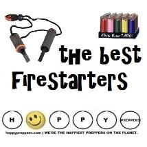 Firestarters are a spark of brilliance! Every prepper,  camper, hunter or scout master needs a quality firestarter  but may not know the difference between a ferro rod or a  magnesium and flint firestarter. Get schooled on this basic  survival item, which should be part of your everyday carry.  See our list of best of the firestarting options for preppers: http://happypreppers.com/firestarters.html