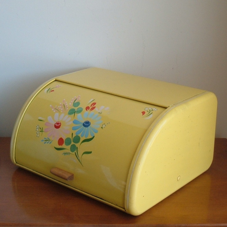 Almost every kitchen had a metal bread box. We had a bread drawer instead.