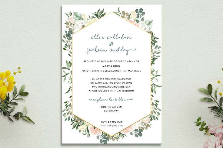 Fresh Bohemian #weddinginvitation #floralwedding #wedding #weddingideas #siappleberrypress