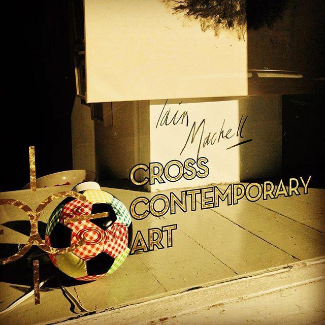 #MichelleGrabner soccer ball arrives at Cross #ContemporaryArt #artcritics come in and sign! (esp @KenJohnson53 ) #saugerties