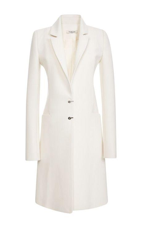 MUGLER Tailored Wool Coat In Natural by MUGLER for Preorder on Moda Operandi