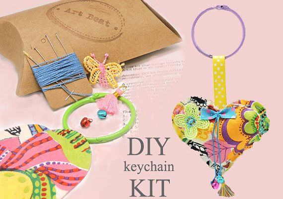 DIY Heart Heart Shaped Craft Sewing Kit For Kids Art Kit