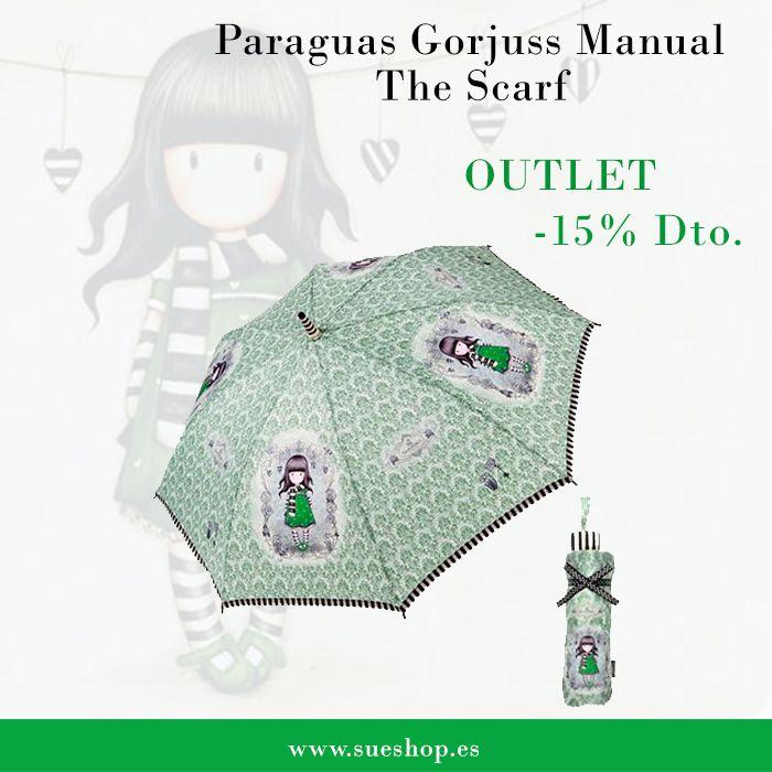 """Consigue el paraguas Gorjuss Manual """"The Scarf"""", ahora con un 15% de descuento por tan solo 22,96€!!  @sueshop_es #gorjuss #santoro #paraguas #descuento #outlet #oferta #complementos"""
