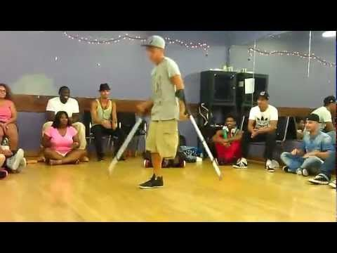One legged guy break dancing ...u are normal - YouTube