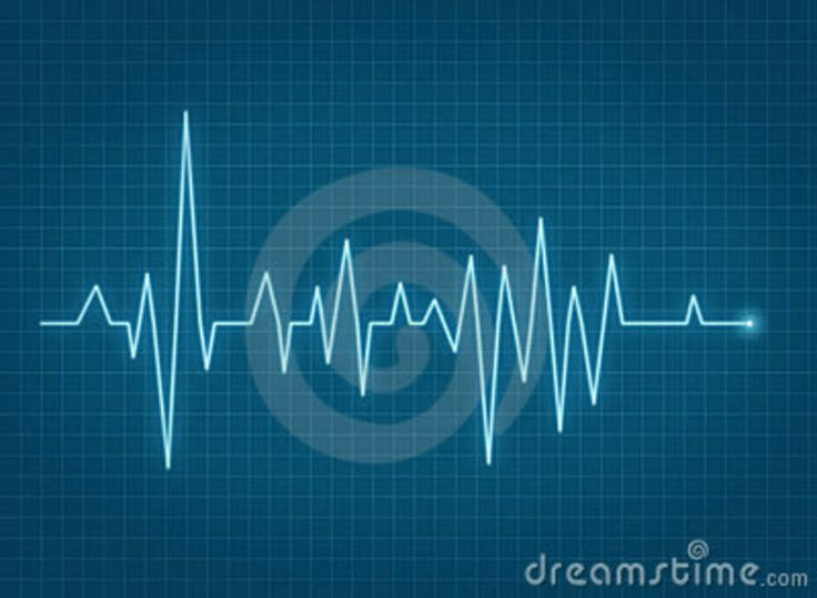 ECG Pulse Heartbeat Blue Line Royalty Free Stock Photo - Image ...