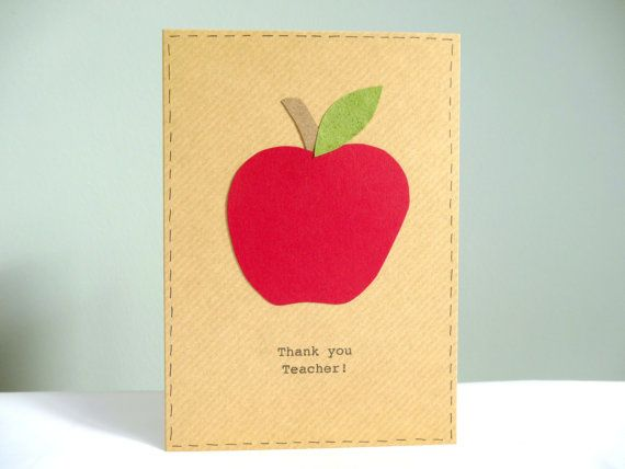 Teacher thank you card  personalised teacher cards  by FluffyDuck, £3.75