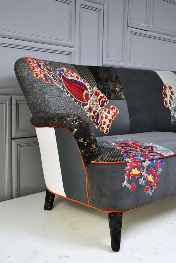 1000 images about patchwork sofas on pinterest patchwork sofa patchwork and fabrics. Black Bedroom Furniture Sets. Home Design Ideas