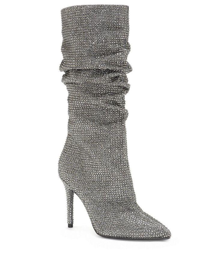 Jessica Simpson Layzer Rhinestone Slouch Boots