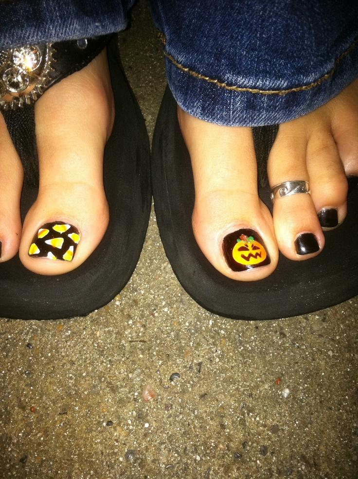 halloween toe nails ideas