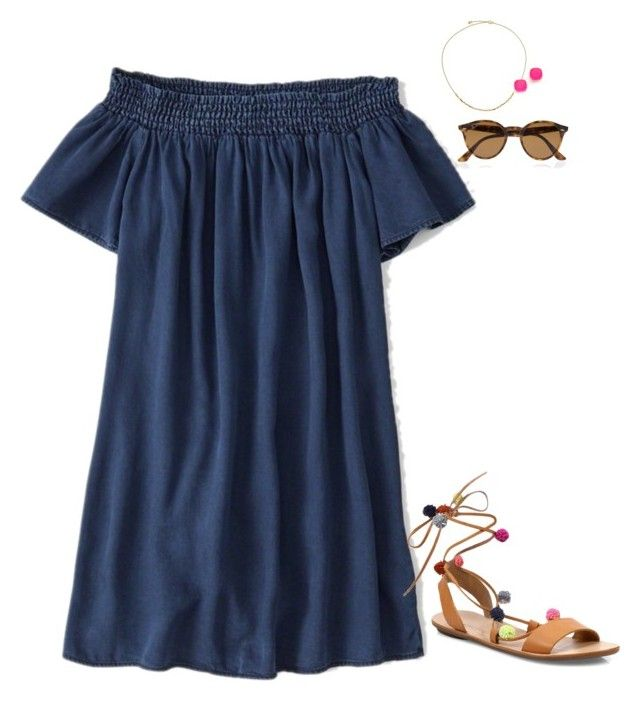 """""""Do y'all like these shoes? Pls comment in D where y'all get dresses!!"""" by mary4claire ❤ liked on Polyvore featuring Abercrombie & Fitch, Astley Clarke, Kate Spade, Ray-Ban and Loeffler Randall"""
