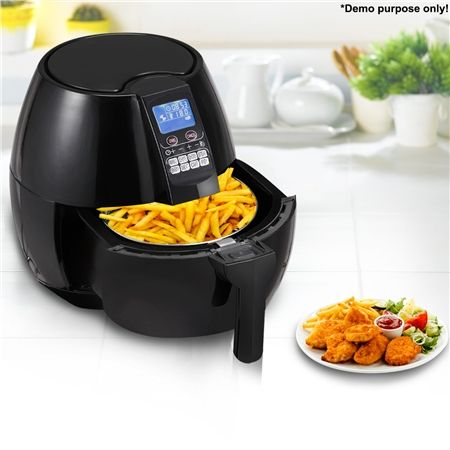 $119.97,Save $129.98 - Black - Black LCD Screen Air Fryer  at CrazySales.com.au - Give yourself a healthy alternative to deep fried goodness without sacrificing taste with this Black LCD Screen Air Fryer!