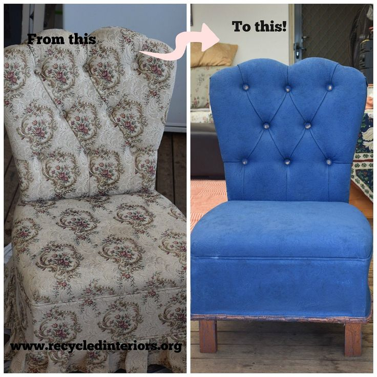 painting a fabric chair with chalk paint
