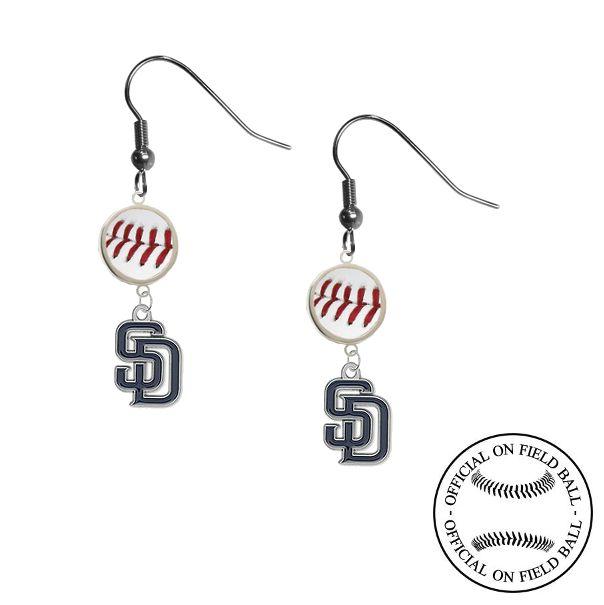 San Diego Padres MLB On Field Leather Baseball Dangle Earrings – SportsJewelryProShop