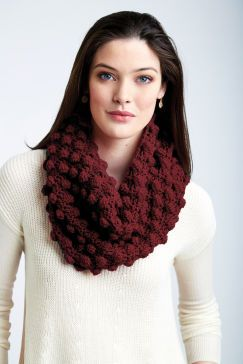 Loops and Threads® Impeccable™ Maximum Texture Crochet Cowl