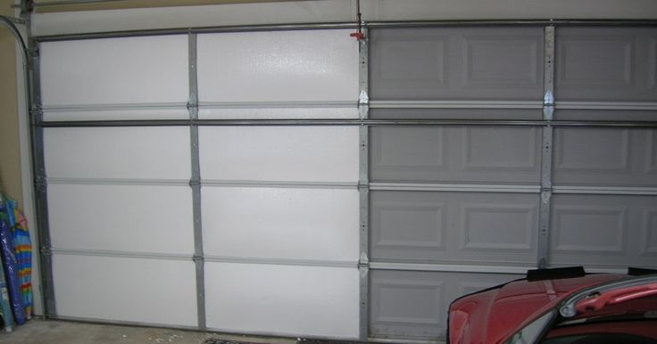 Garage door manufactures want hundreds of dollars for an insulation kit.   A new insulated garage door can cost thousands.   For about $100 ...