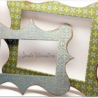 DIY magnetic fridge framesMagnets Fridge, Crafts Ideas, Crafty, Diy Frames, Gift Ideas, Diy Magnets, Fridge Frames, Scrapbook Paper, Homemade Gift