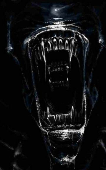 Alien Mouth Horror Android Wallpaper