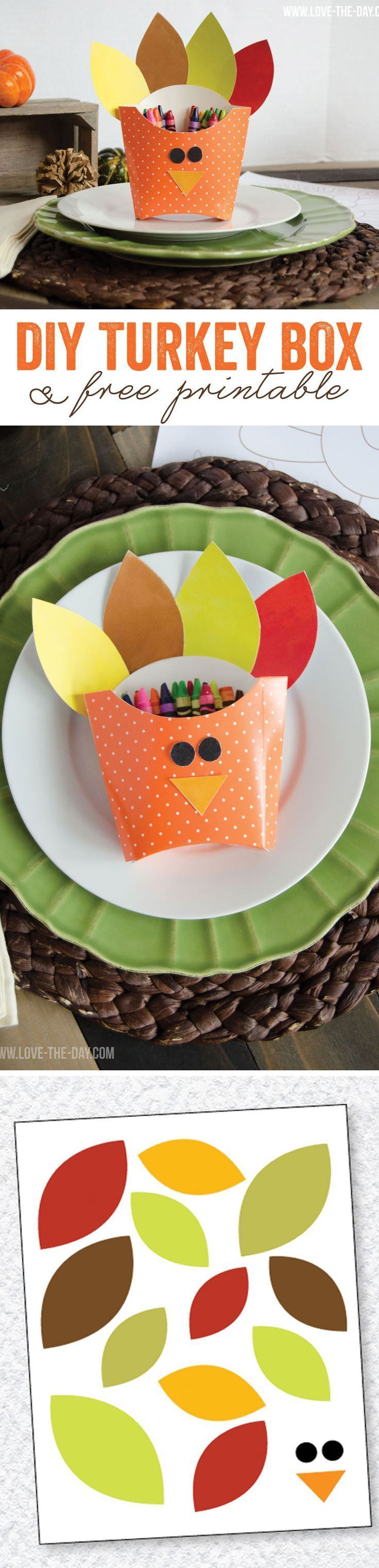 Thanksgiving Crafts for Kids DIY Turkey Boxes