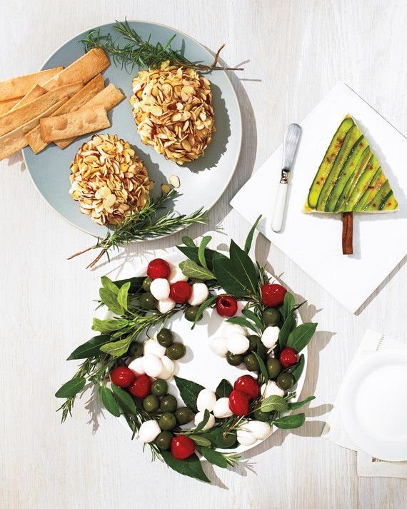 Don't just deck the halls for a holiday potluck -- adorn the table with crowd-pleasing cheeses in clever presentations reminiscent of the season's best-loved decorations.