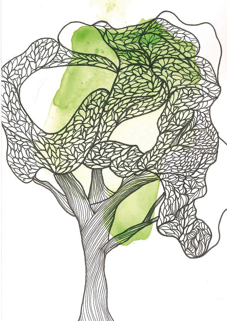 Arbol / Tree N°1  #ilustracion #ilustration #tree #arbol #watercolor #acuarela
