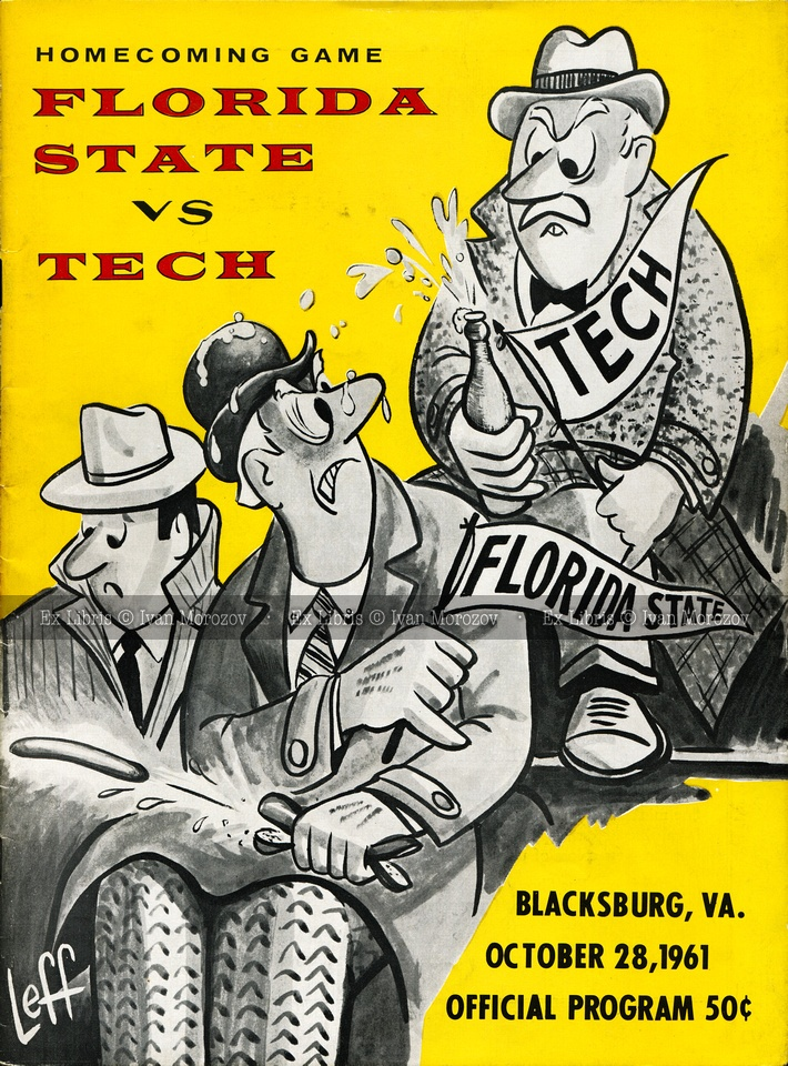 1961.10.28. Florida State University (Seminoles) at