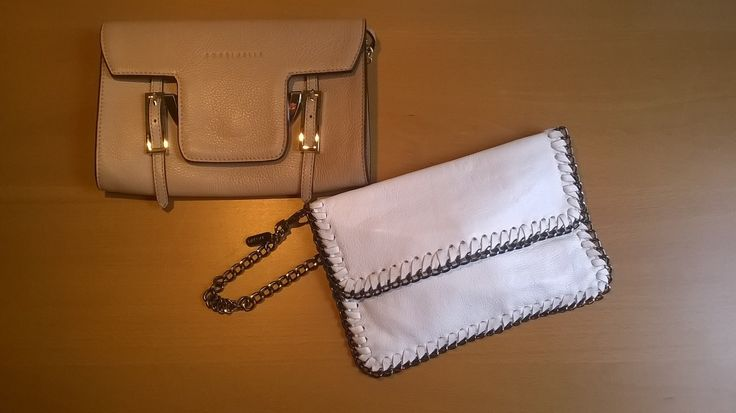 Borsa beige Coccinelle; borsa bianca NoNu   #LauraSerena #ilmiostilelibro http://www.ilmiostilelibro.it/nuove-nel-mio-armadio-due-borse-perfette-per-la-bella-stagione/#more-318