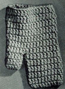 Crochet Pattern for Oven Mitt