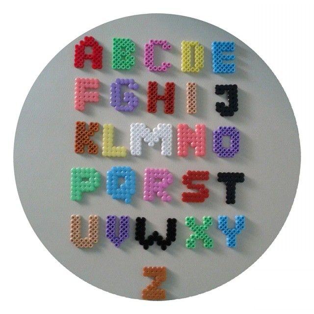 Alphabet hama perler beads by magicoldie