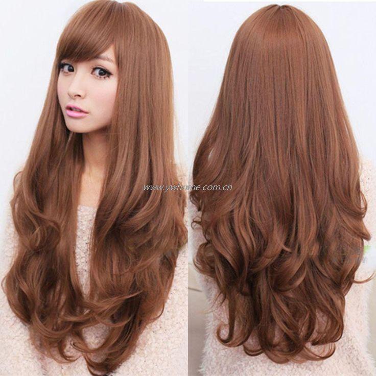 Купить товар4 цвета женщин полный парики длинные вьющиеся волосы волнистые парик косплей ну вечеринку хэллоуин подарок светло коричневые в категории  на AliExpress.                 4 цвета женская полная парики, длинные вьющиеся волнистые волосы парика Косплей Хэллоуин под