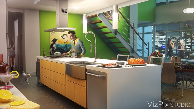 Modern Open Concept Kitchen visualization