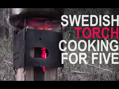 Ultralight Backpacking Stove, Swedish Torch Style Camp Cooking For A Family Of Five / Firebox Nano - YouTube