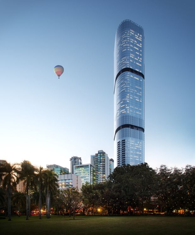 Brisbane Skytower (2018-?) - The yet-to-be completed Brisbane Skytower at 222 Margaret Street. The Brisbane Skytower will reach the CBD's current AirServices Australia-mandated height limit of 274 metres when it is completed in 2108