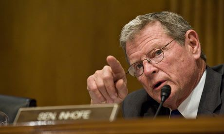 James Inhofe calls for criminal investigation of climate scientists as senators prepare proposal that would ditch cap and trade