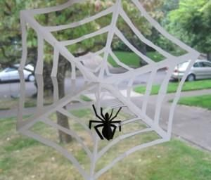 DIY Hallowen: DIY : Another Paper Spider in Its Web