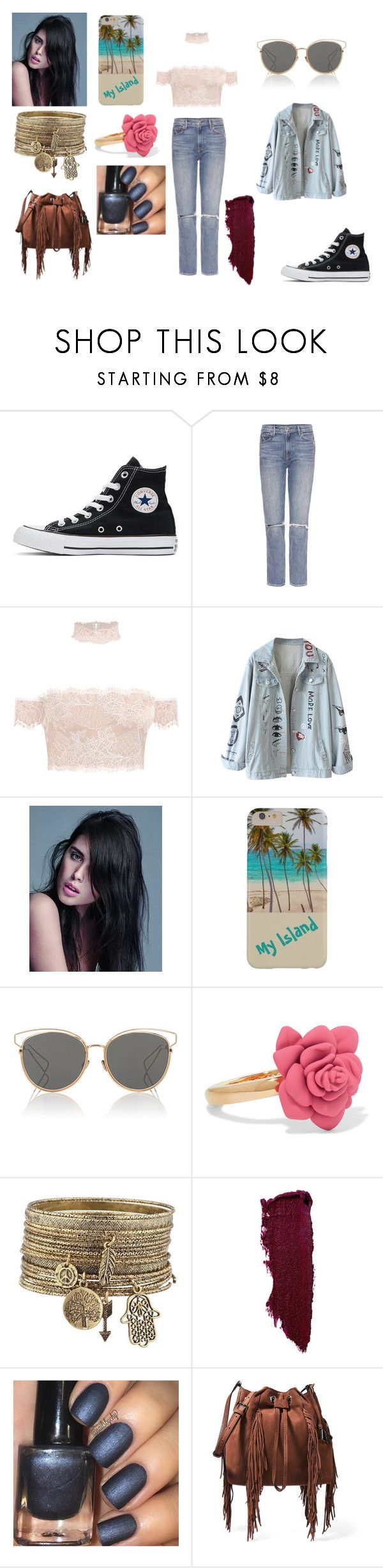 """Sans titre #2364"" by amandine-collet ❤ liked on Polyvore featuring Converse, GRLFRND, Balmain, Christian Dior, Marc by Marc Jacobs and Diane Von Furstenberg"
