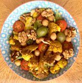 Salade met geroosterde bloemkool