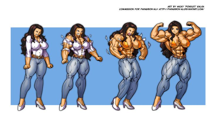 Muscle Growth Expansion Girl