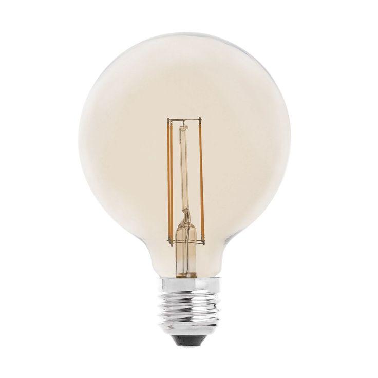 Bombilla decorativa de filamento con LED #bombillas #filamento #rustico #retro #vintage #decoracion #interiorismo #iluminacion #lamparas #led