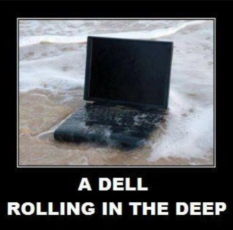 rolling in the deep? #dell #laptop #adele: Funny Things, Random, Funny Stuff, Funnies, Humor, Hilarious, Giggles, Adele