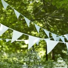 In love with white bunting for any occasion.