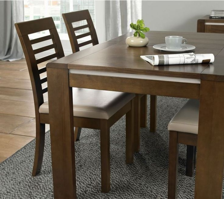 Casa Walnut Ext. Dining Table 6-8 The Casa Walnut Dining Range is a sleek contemporary collection that will add a touch of sophistication to your living space.