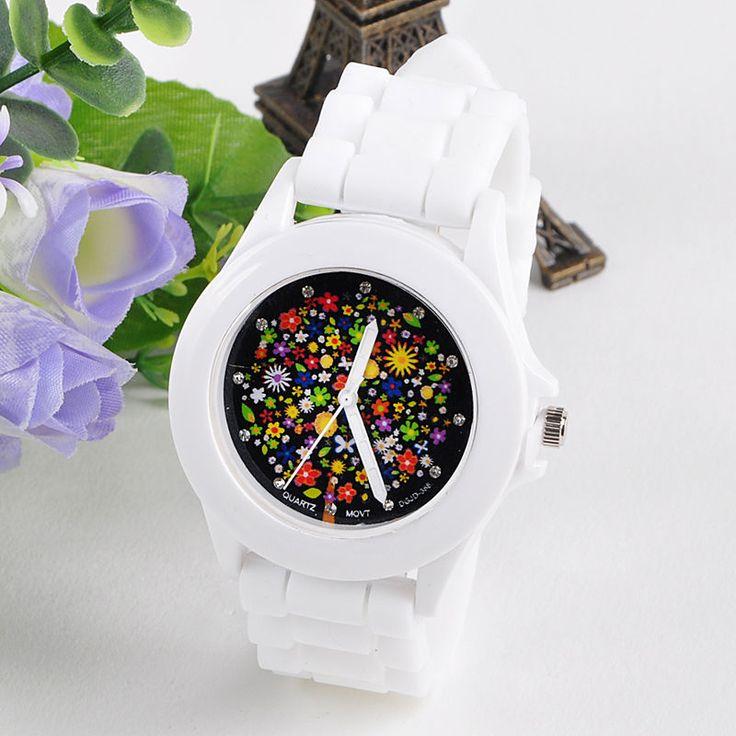 Fashion Silicone Rubber Jelly Gel Quartz Analog Sports Women Wrist Watch Gift