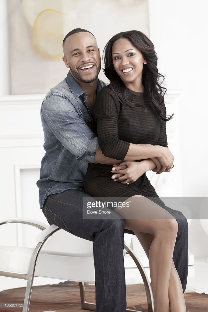Actress Meagan Good and her husband film executive and preacher DeVon Franklin are photographed for Ebony Magazine on December 21, 2012 in Los Angeles, California. ON