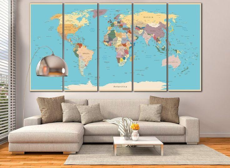 Push Pin World Map №807
