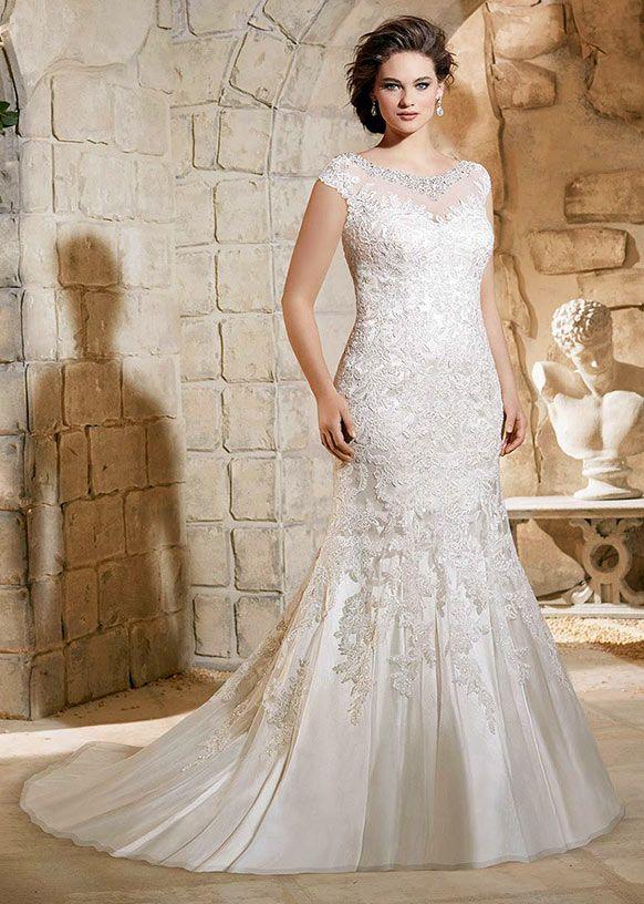 42 best Plus Size // Mori Lee images on Pinterest   Wedding frocks ...