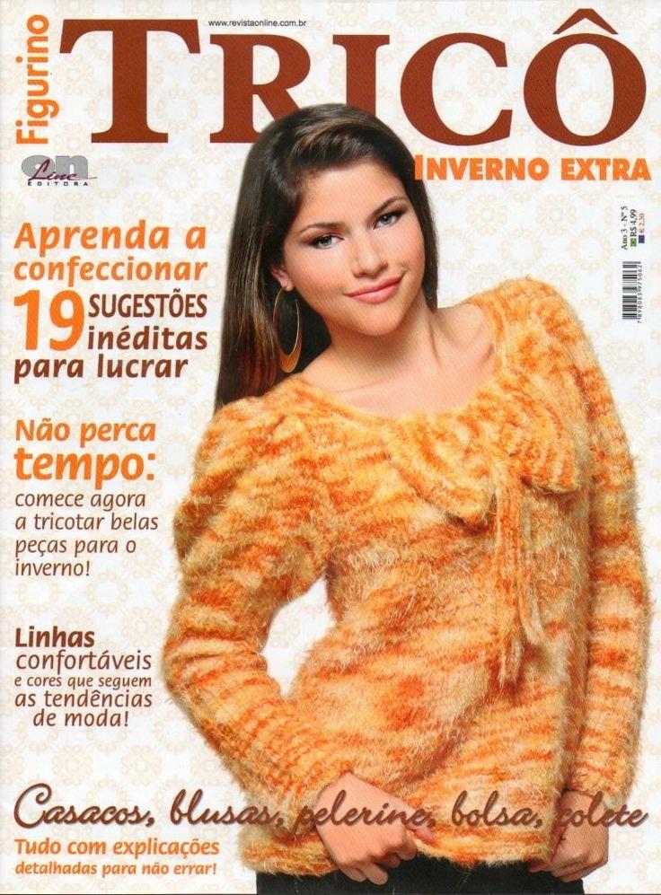 Revista Online Figurino Tricô Inverno Extra - Receita Tricô Fácil
