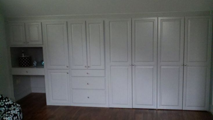 closet cabinets | custom built wall of closets cabinets drawers and desk