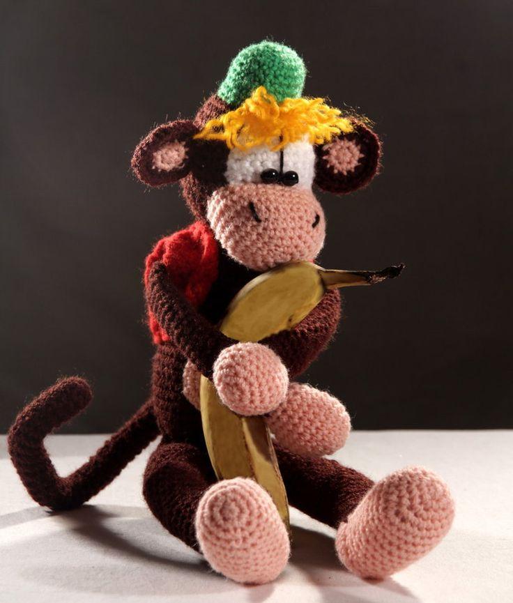 11 besten Háčkování - opice Bilder auf Pinterest | Affen, Tiere und ...